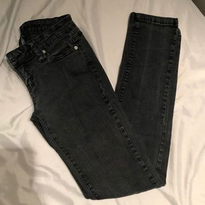 Wet Seal Black Denim Skinny Jeans